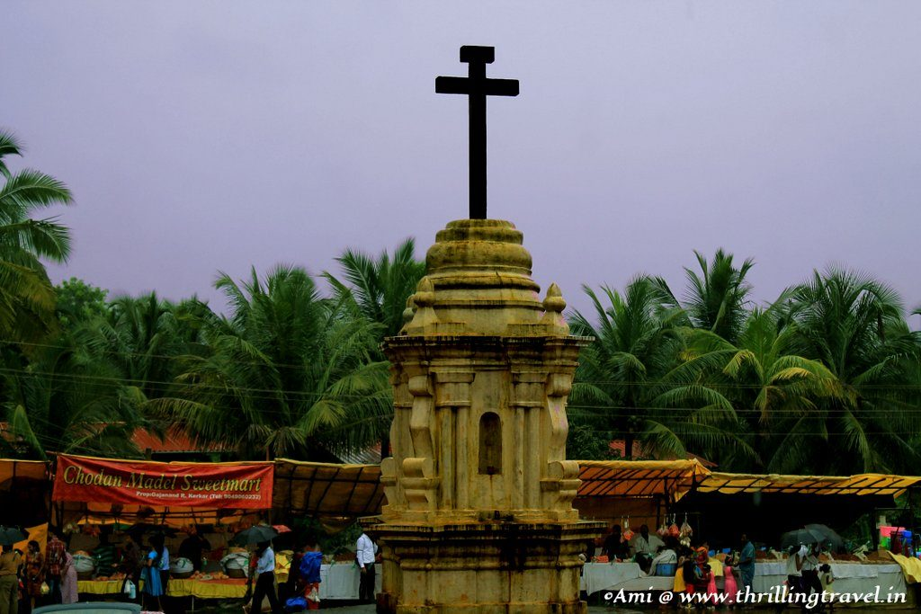 The Cross outside Santana Church, Goa