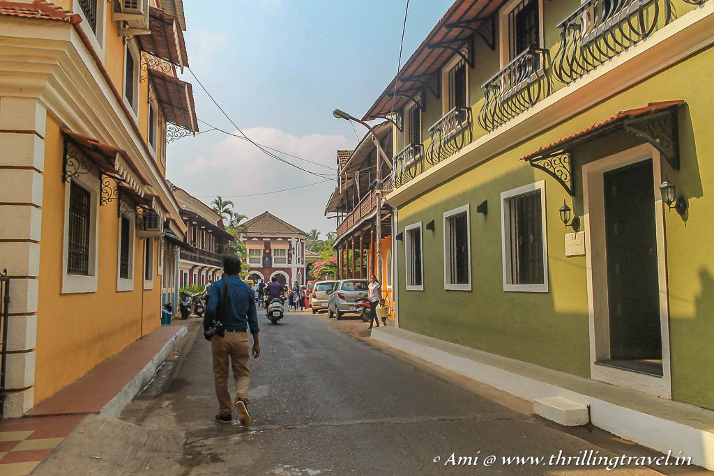 Inner lanes of Fontainhas Goa