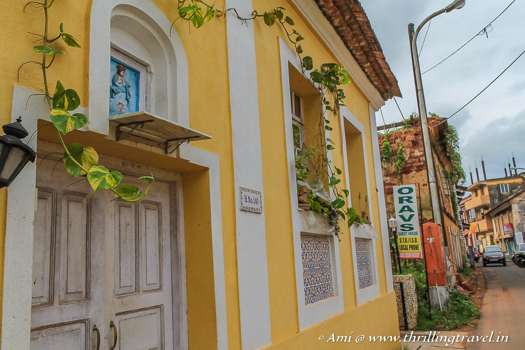 Colorful heritage homes of Fontainhas in Goa