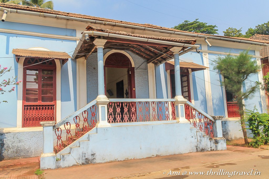 Railings and columns in a Goan house