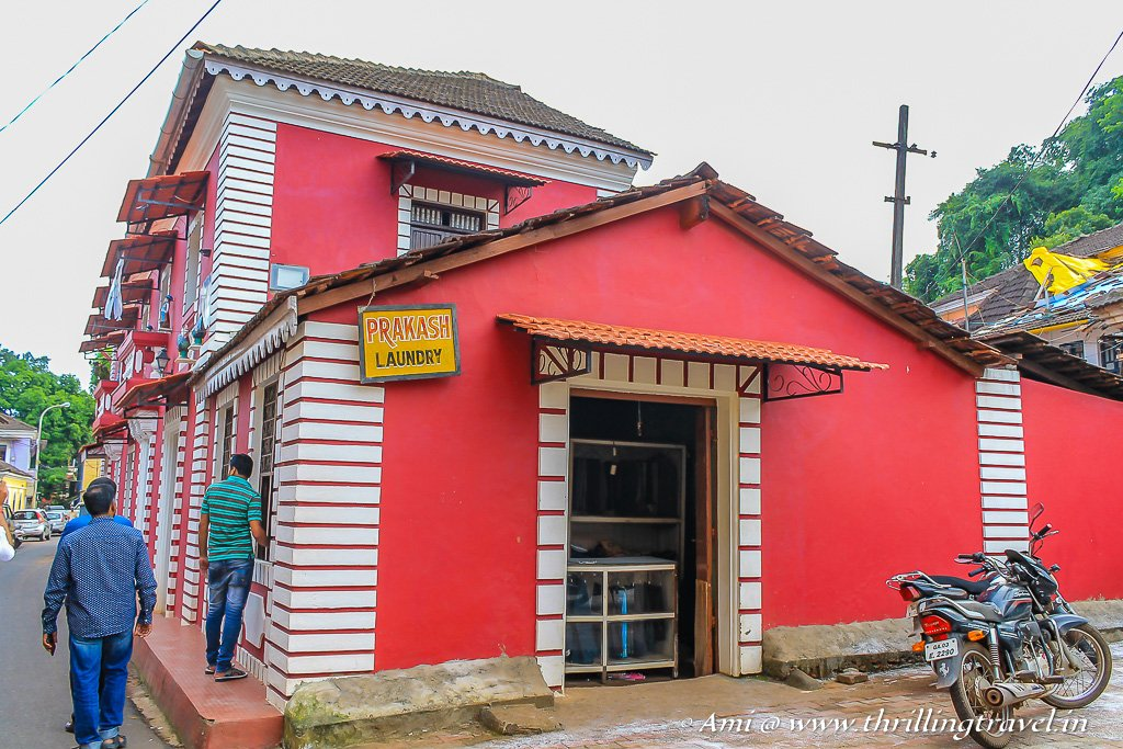 One of the Old Heritage homes in Fontainhas Goa