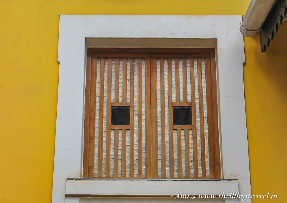 Shell windows of a Portuguese Home in Fontainhas, Goa