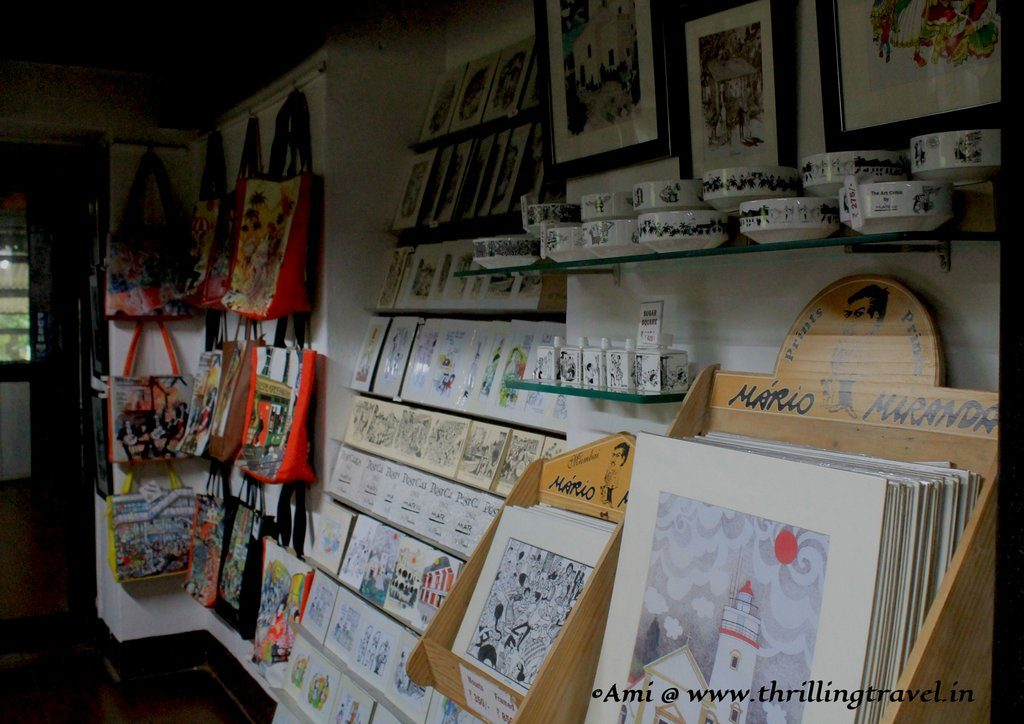 Mario Miranda Shop at the Houses of Goa Museum