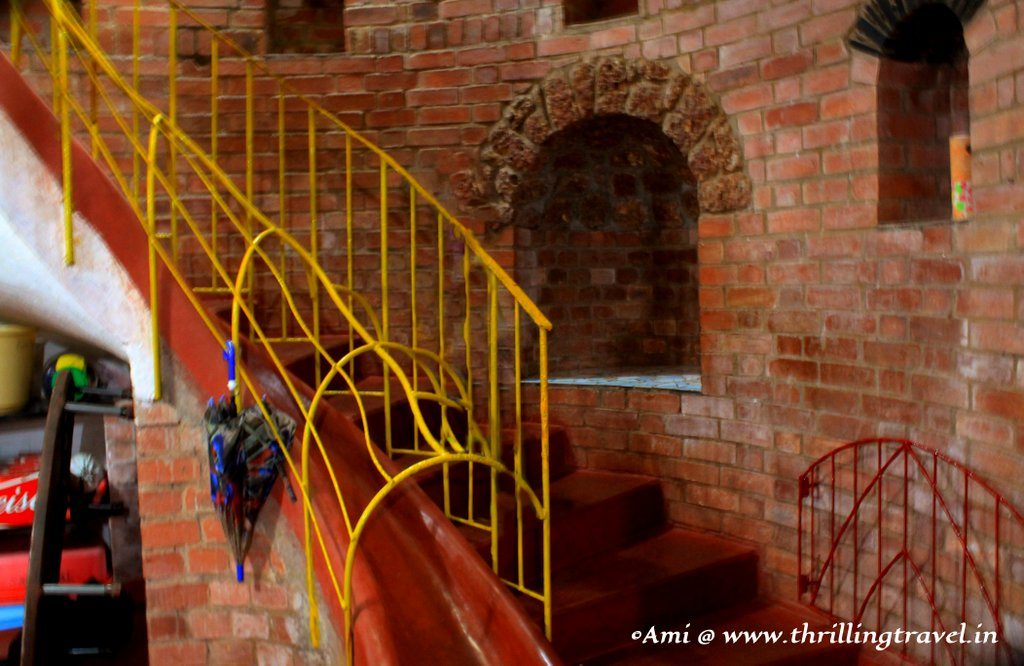 Slides for the kids around the Spiral staircase for the adults