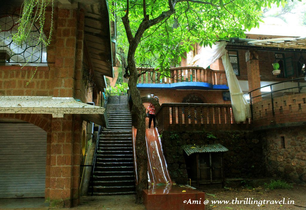Slide into the playground, Nisha's play school near the Houses of Goa Museum