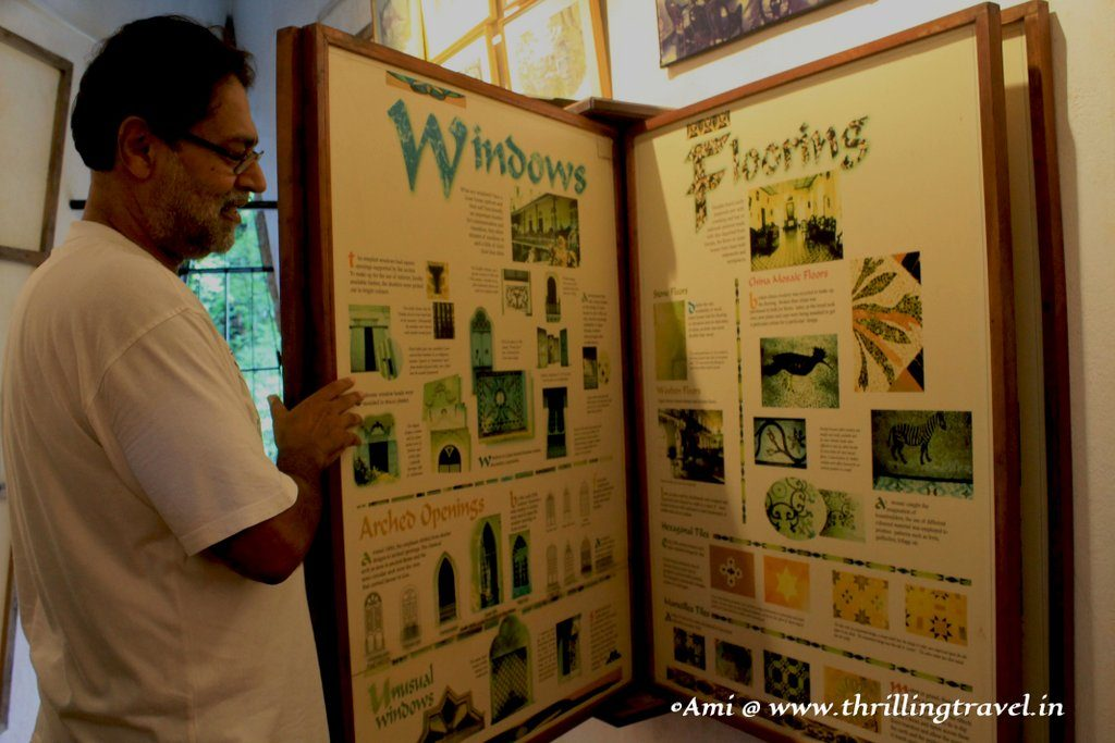Gerard showcasing the various facets of the Houses of Goa