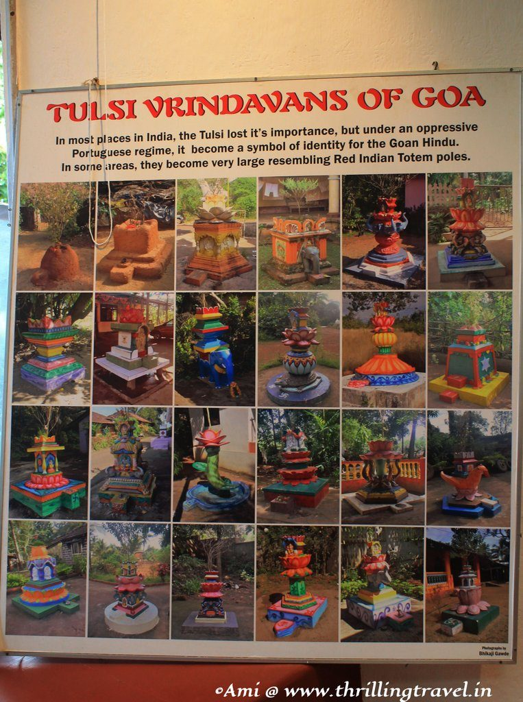 The various types of Tulsi Aangans - showcased in the Houses of Goa museum