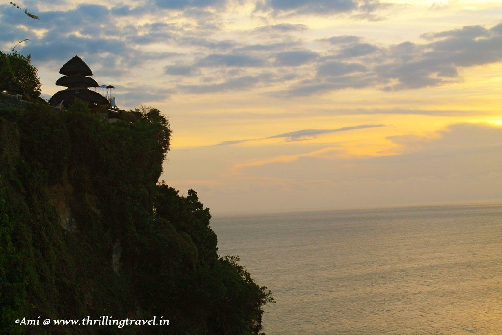 Uluwatu Temple by the sea, Bali - one of the examples of the Balinese culture