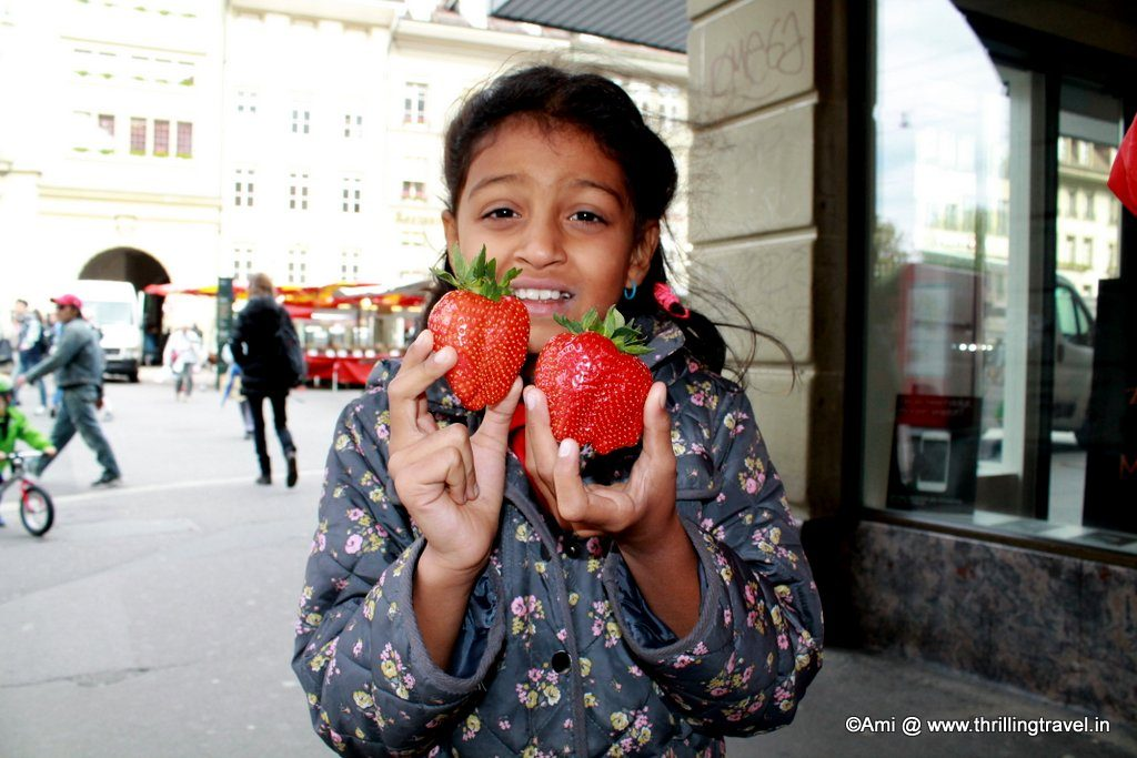 Strawberries in Switzerland