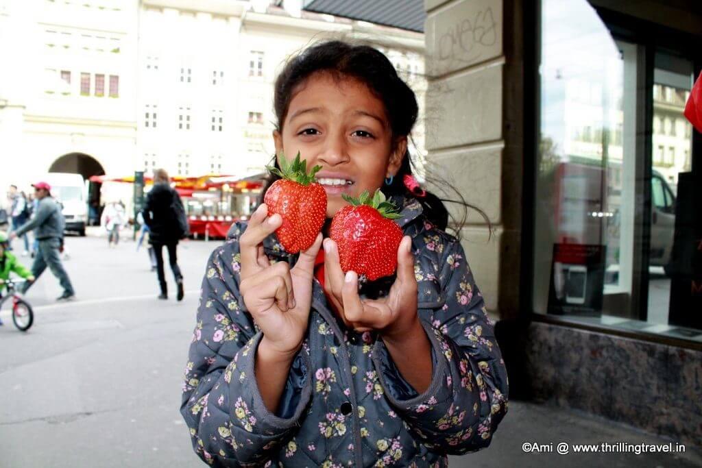 Strawberries in Switzerland