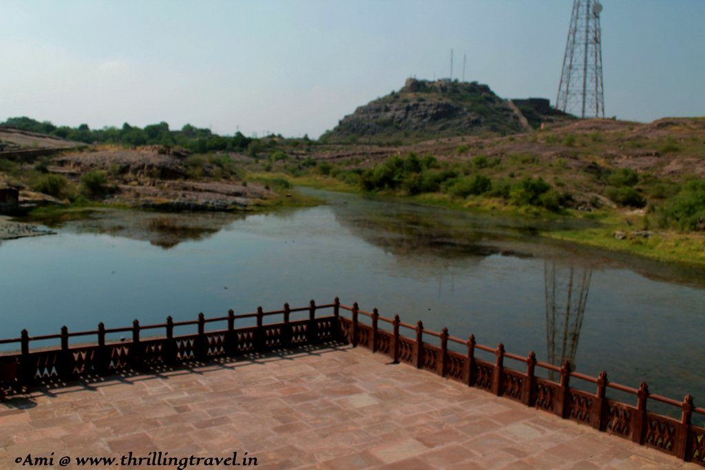 The view of the lake, Jaswant Thada
