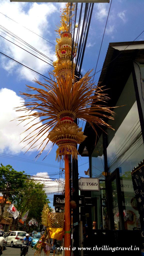 Penjor - a decoration from the Galungan-Kuningan fetsival of the Balinese culture