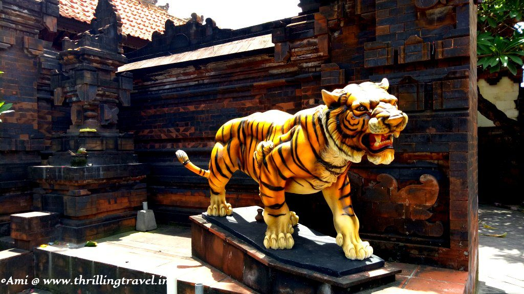 Tiger guarding the gates of a Balinese Home