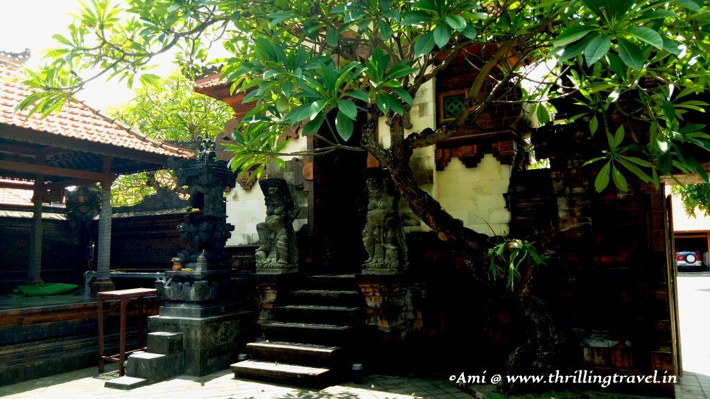 A compound temple with many Pelinggih in a Balinese Home