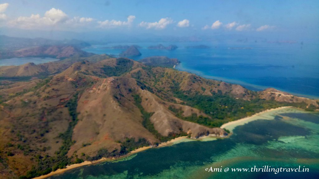 The islands of Indonesia from high up in the sky