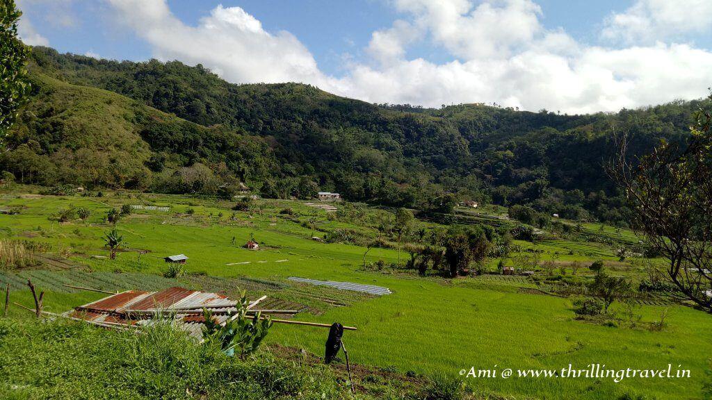 Green valleys around Kelimutu