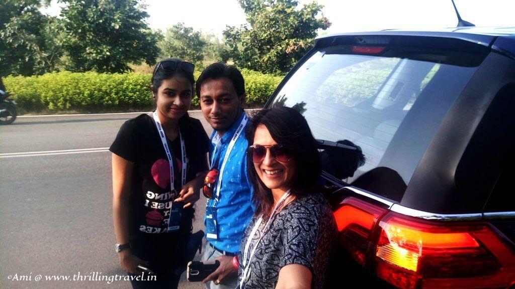 The Trio doing the #HexaExperience with Tata Hexa