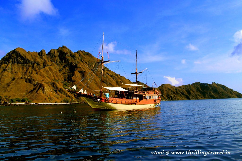 Heading to Padar Island - not our boat though