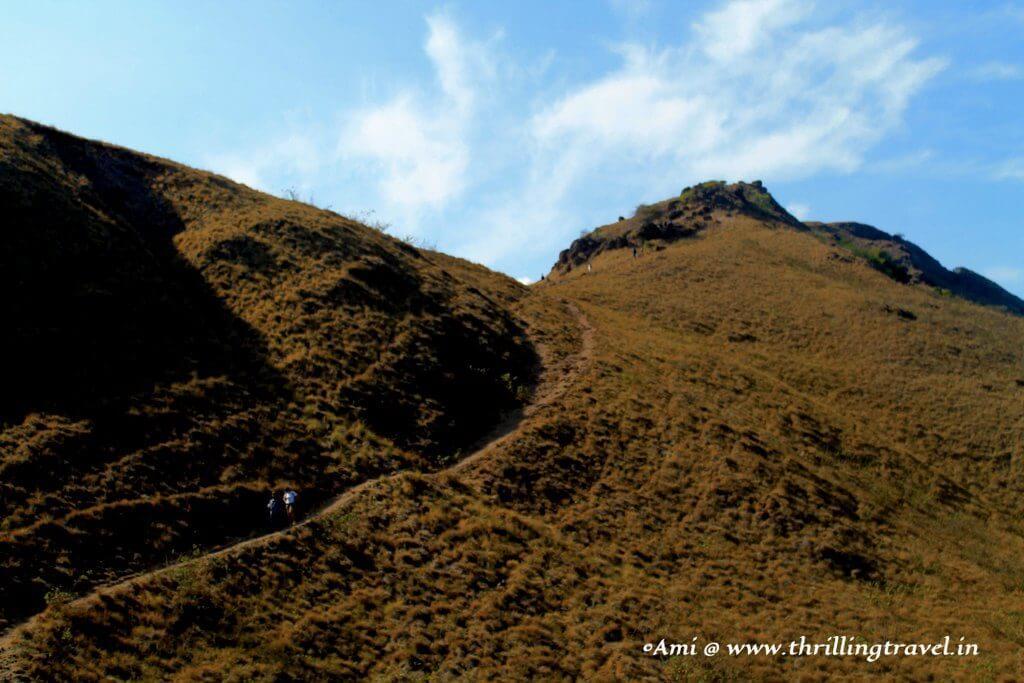 Climbing further up Padar Island