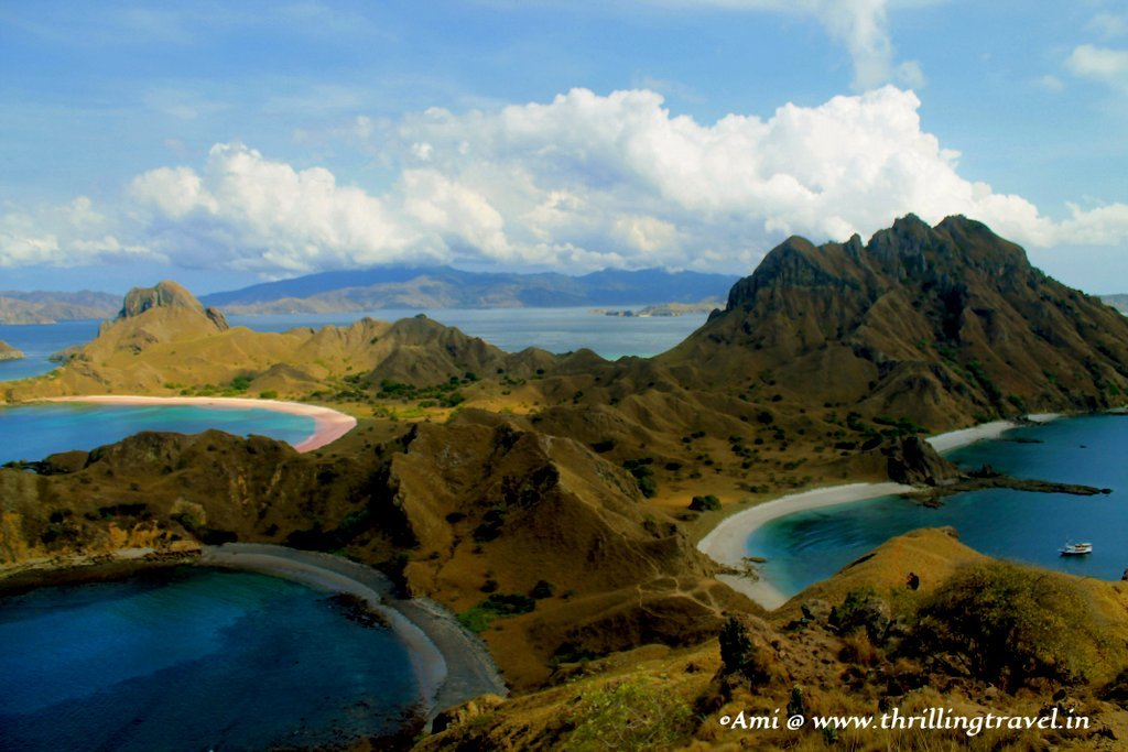 Tri-Colored beaches of Padar Island, Indonesia - Thrilling