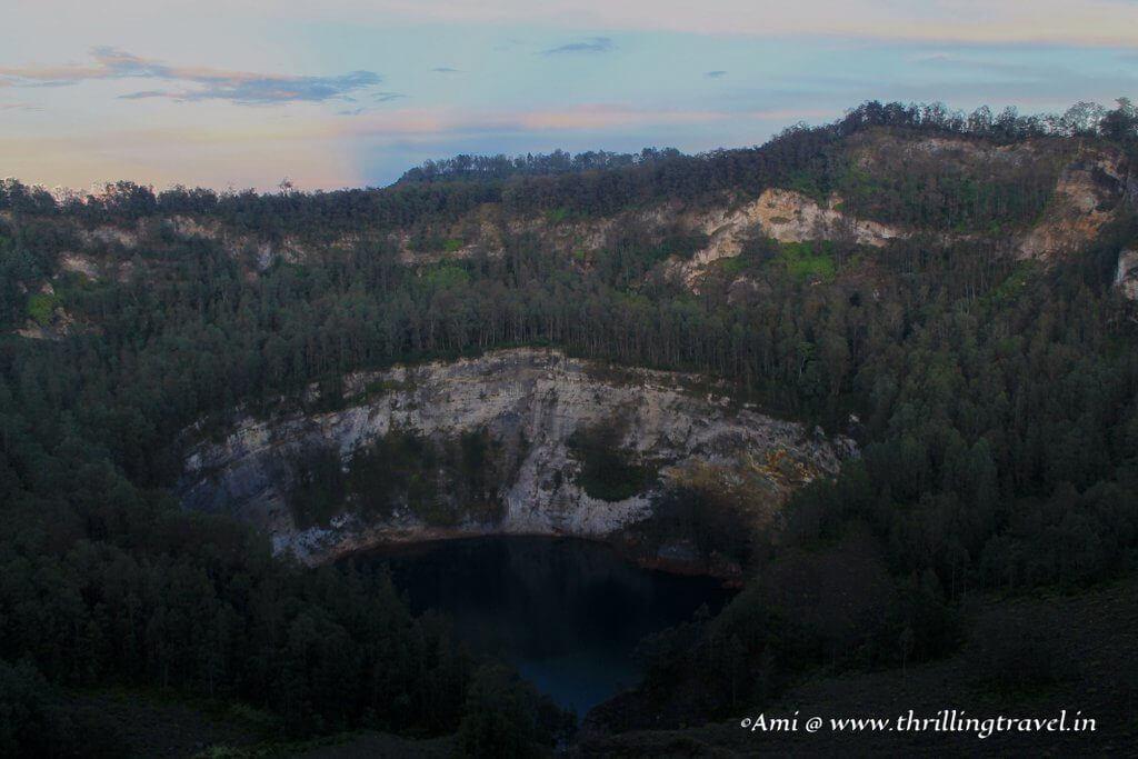 The Blackish Blue Lake of Old People at Kelimutu