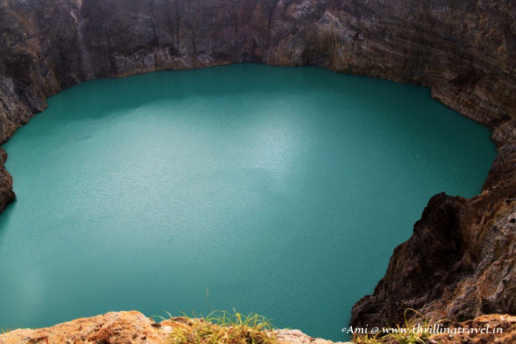 The blue bewitched lake at Kelimutu