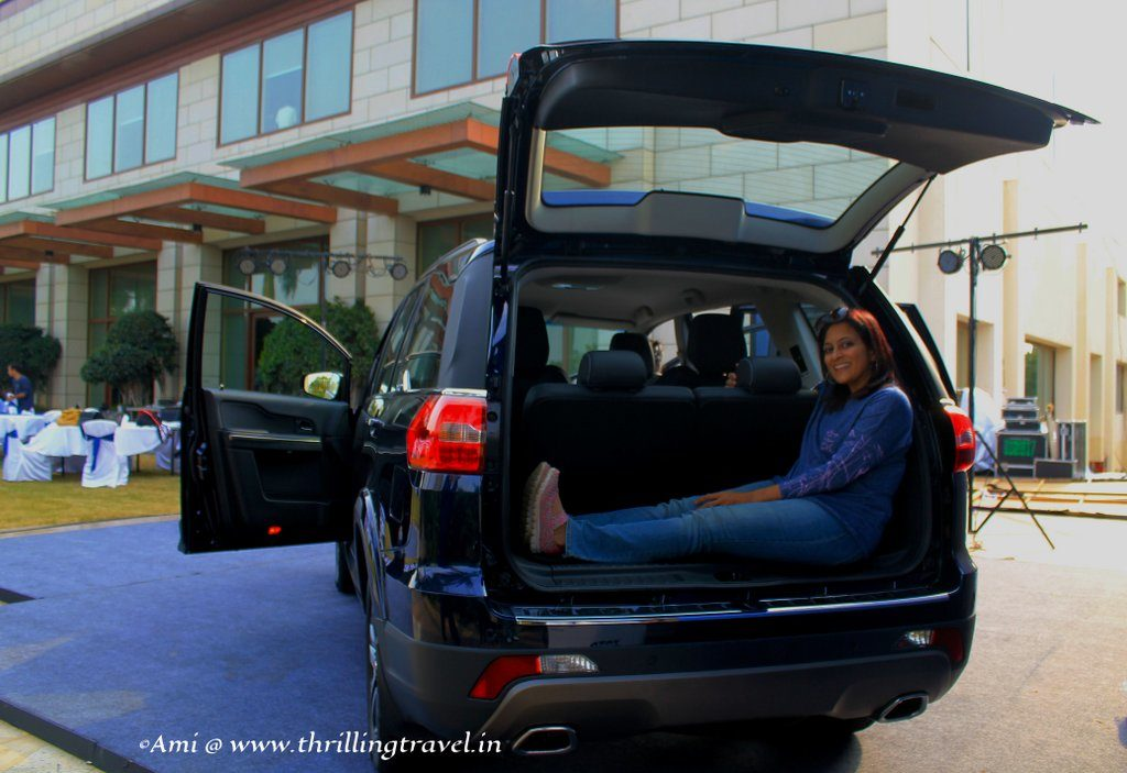 Checking the Boot space in Tata Hexa