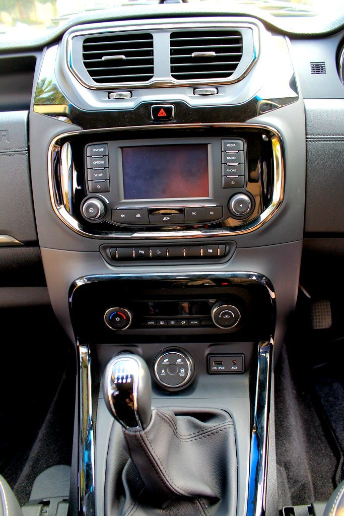 Infotainment and Drive mode controls in the Tata Hexa