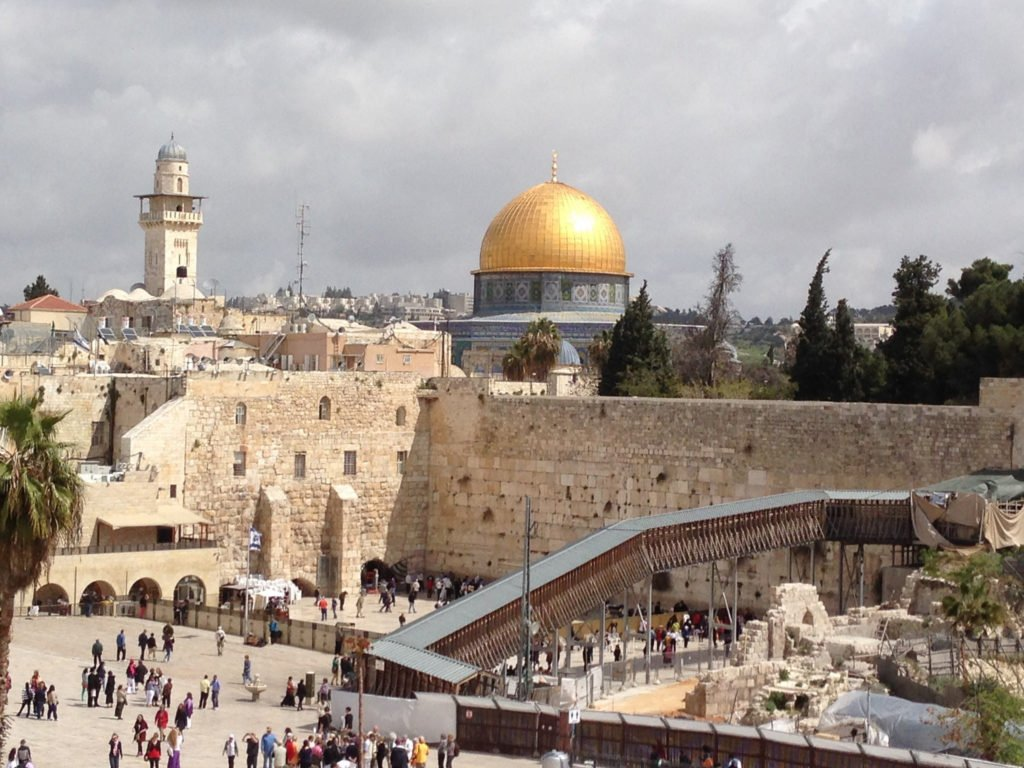 Jerusalem with the Dome of Rock & the Western Wall