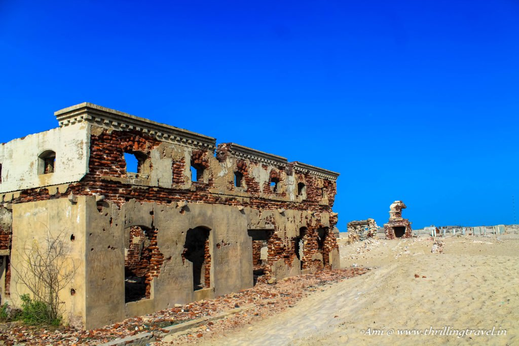 Ruins of the school at Dhanushkodi