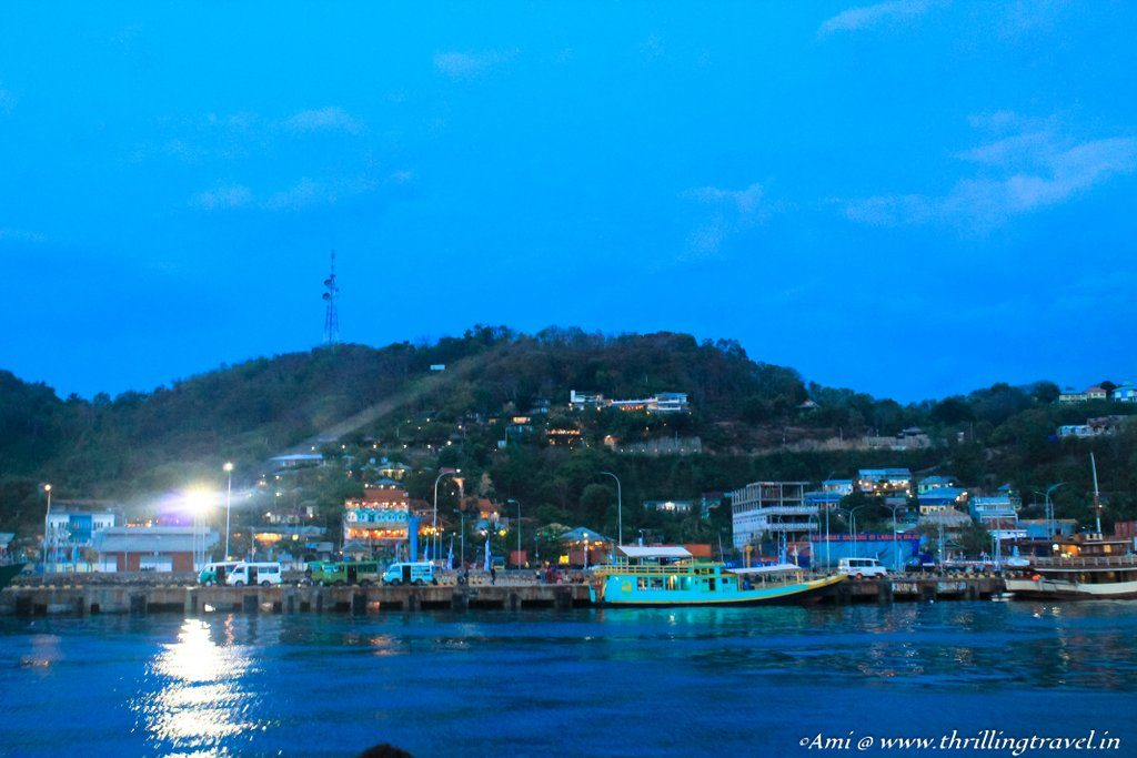Labuan Bajo at night, Flores