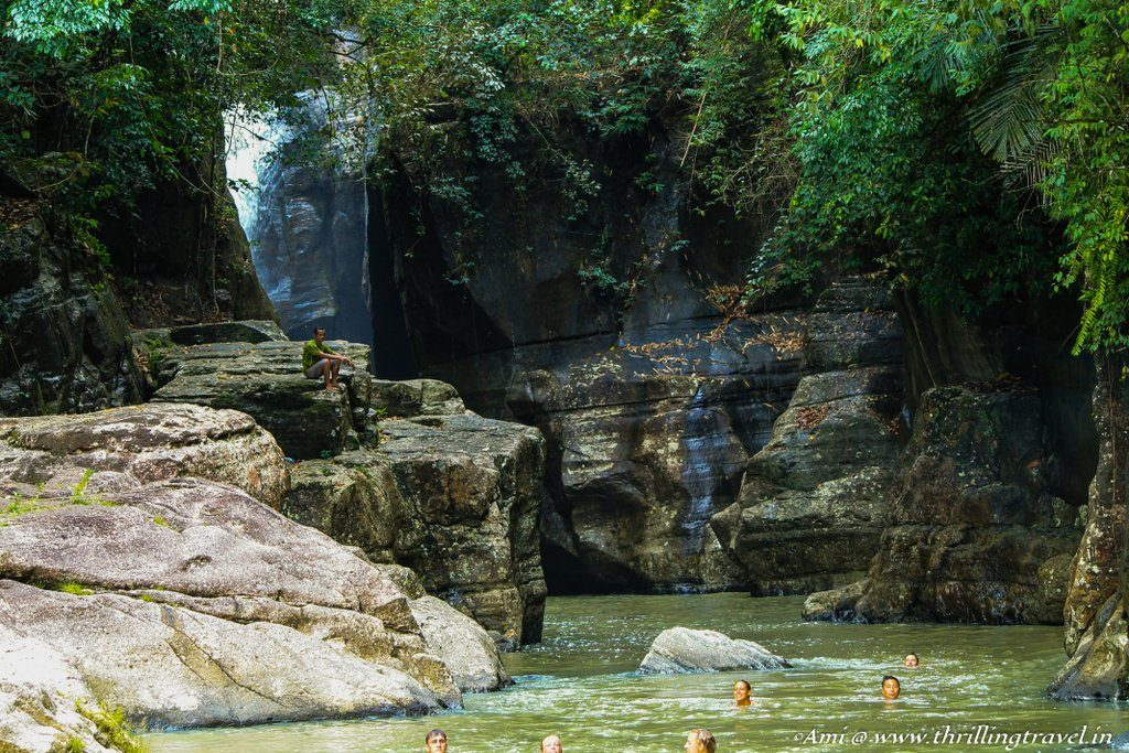 Cunca Wulang Waterfalls with its jumping pit, Flores