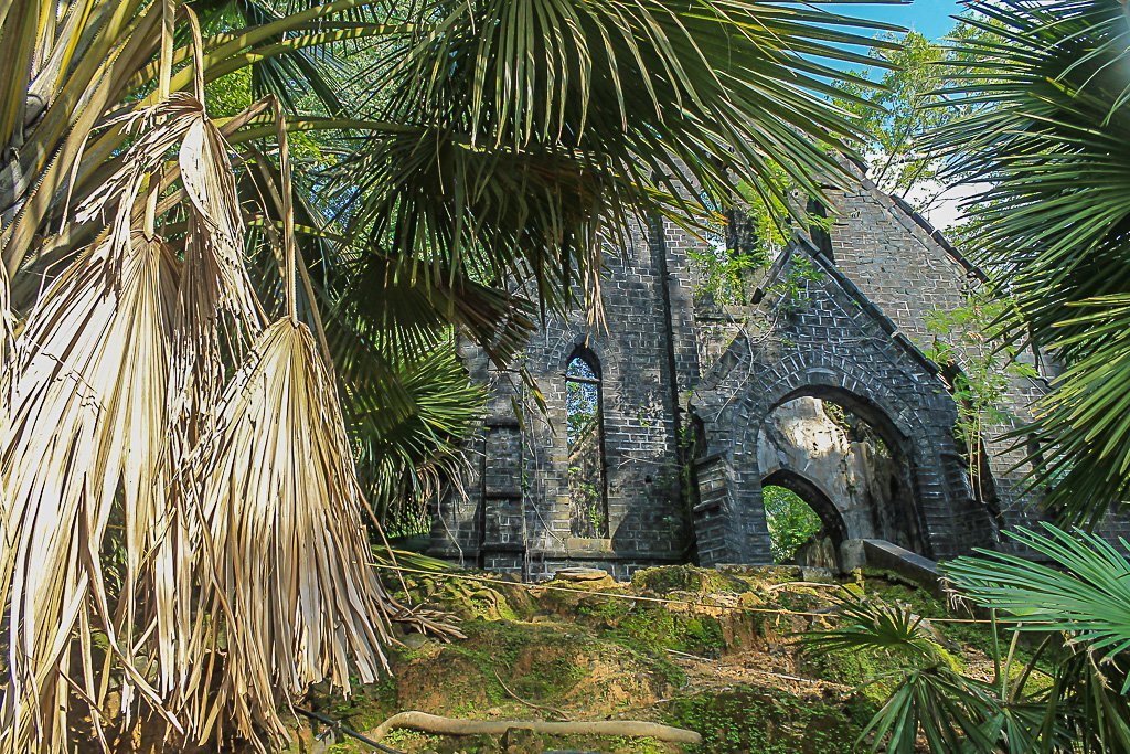 The old British church on Netaji Subhash Chandra Bose Island in Andamans