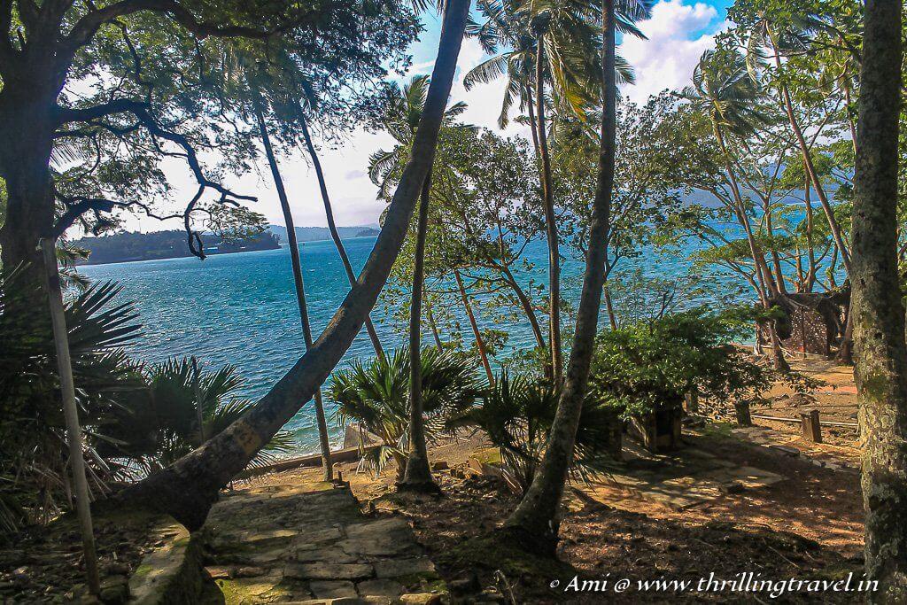 Port Blair as seen from Ross Island
