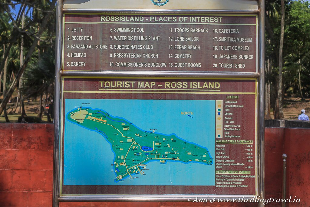 The Ross Island Map showing you all the attractions of Netaji Subhash Chandra Bose Dweep