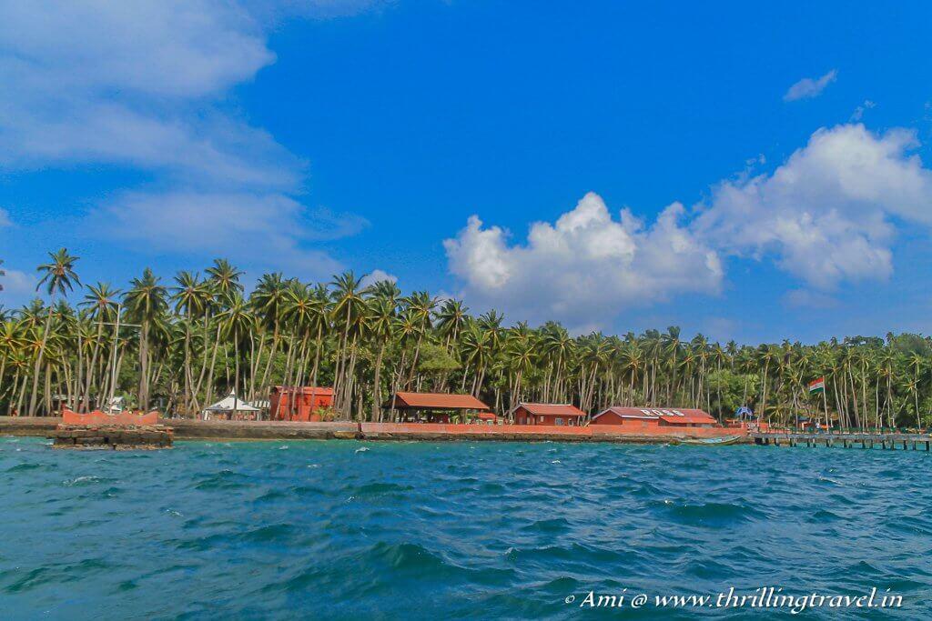 Netaji Subhash Chandra Bose Dweep - the former Ross Island as seen from Port Blair