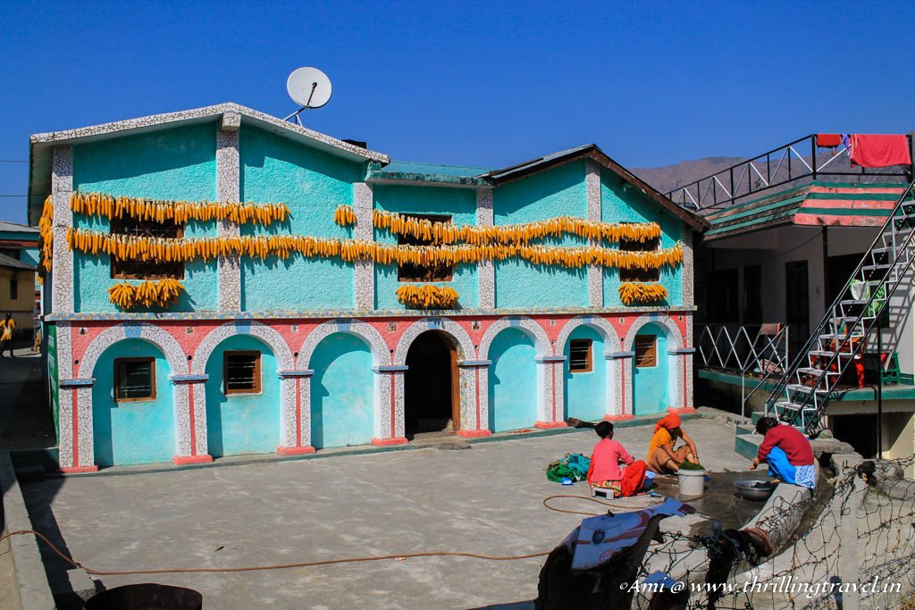 One of the houses in the Corn Village of Sainji