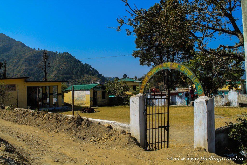 The Government school and creche at the Corn Village