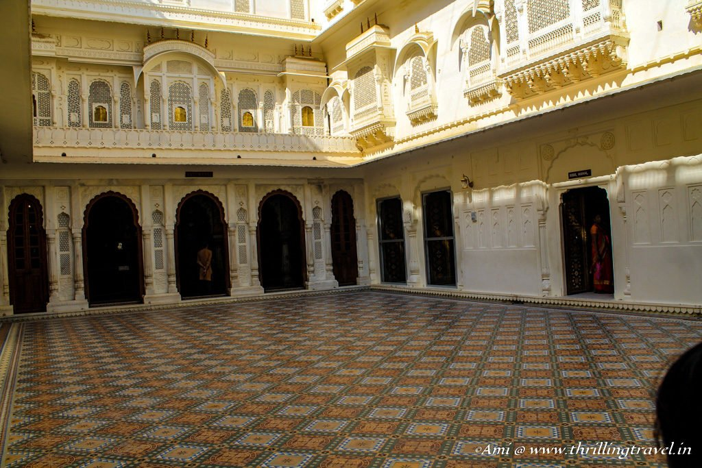 The courtyard of Phool Mahal at Junagarh Fort