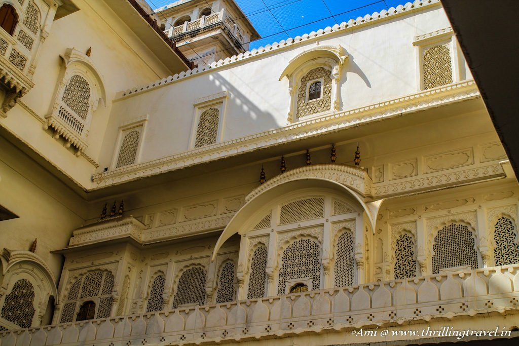 A section of the Anup Mahal area in Junagarh Fort Bikaner
