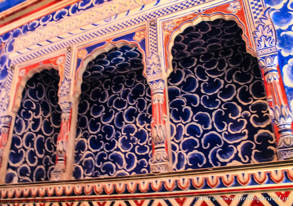 Section of the Badal Mahal in Junagarh Fort