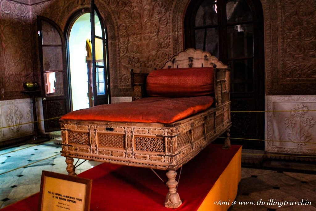 The heritage throne of Rathore Clan at Junagarh Fort Bikaner