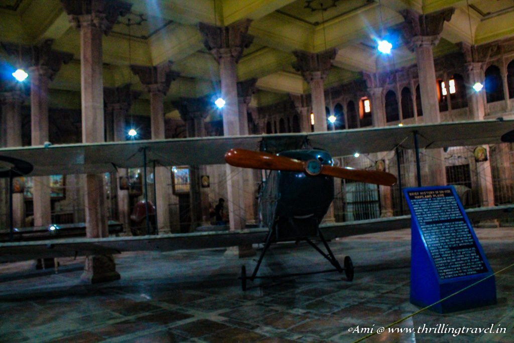 Biplane used in World War I kept in the Junagarh Fort Bikaner