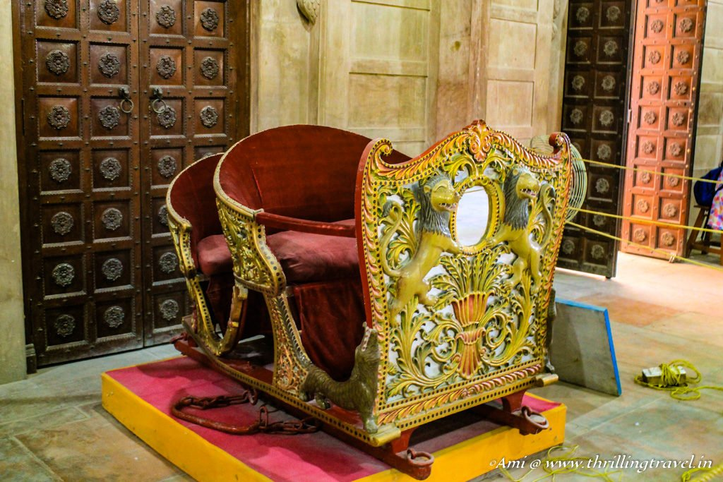Howdah kept in Ganga Niwas, Junagarh Fort Bikaner