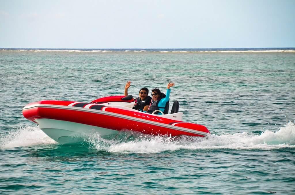 Nisha and me on our seakart