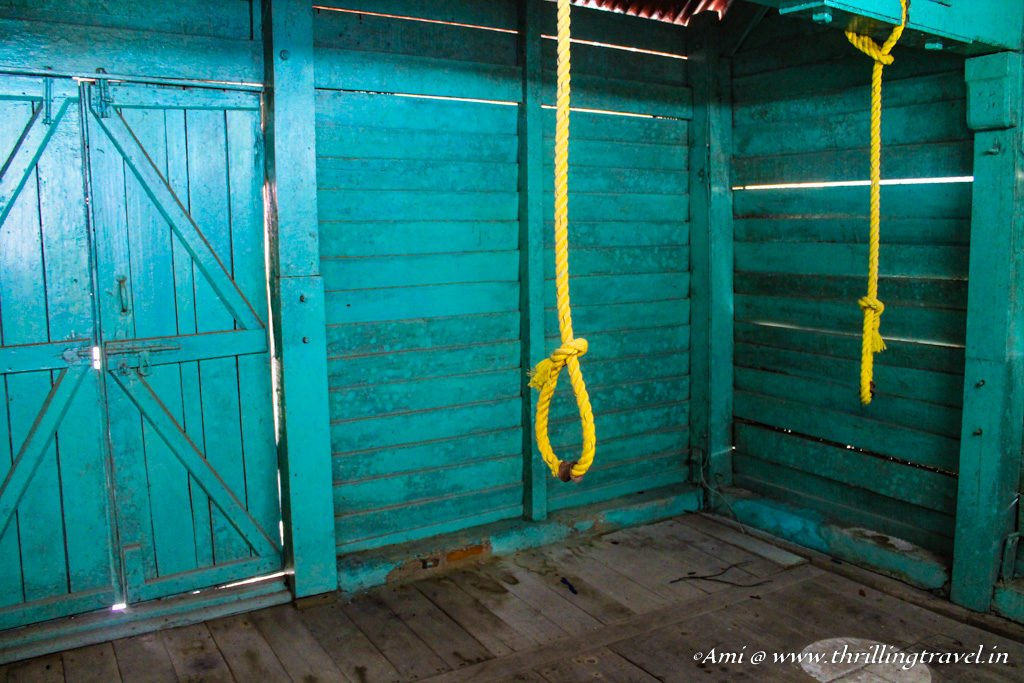 Inside the Gallows of Cellular Jail, Port Blair
