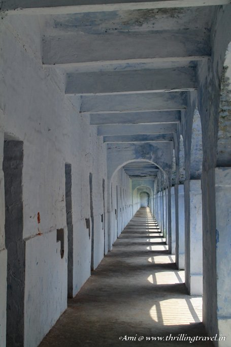 Cells within a single wing of the Cellular Jail