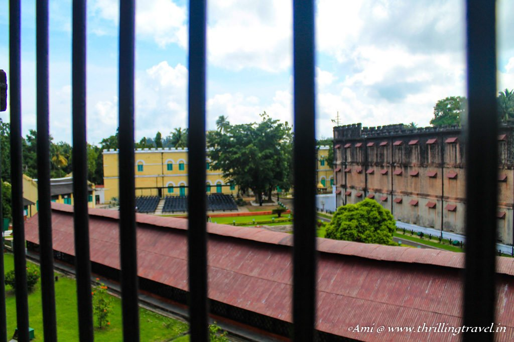 View from a Cell corridor in the Cellular Jail