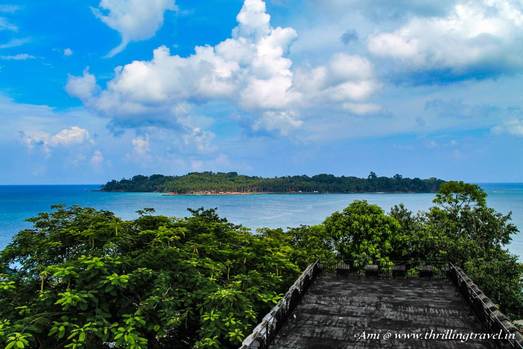 Ross Island, as seen from Cellular Jail, Port Blair