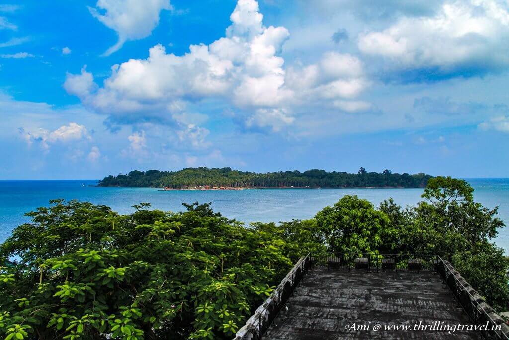 Ross Island, as seen from Cellular Jail, Port Blair